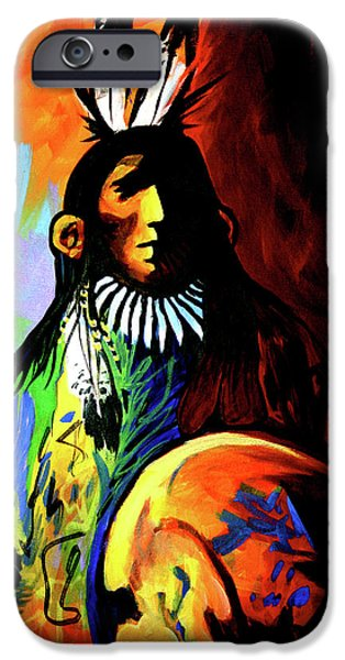 Indian Shadows iPhone Case by Lance Headlee