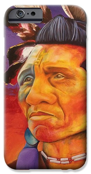 War Pastels iPhone Cases - Indian Summer iPhone Case by Crimson Shults