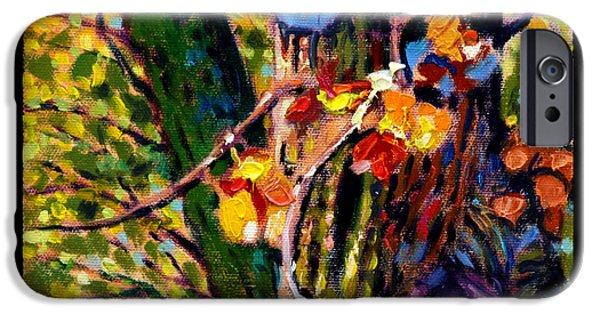 Pear Tree Paintings iPhone Cases - Indian Summer detail eight iPhone Case by John Lautermilch