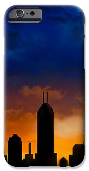 Building iPhone Cases - Indiana Indianapolis Night Skyline iPhone Case by Marlene Watson