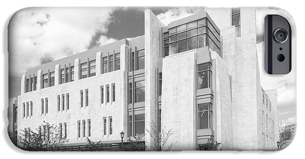 Indiana Images iPhone Cases - Indiana University East Studio Building iPhone Case by University Icons
