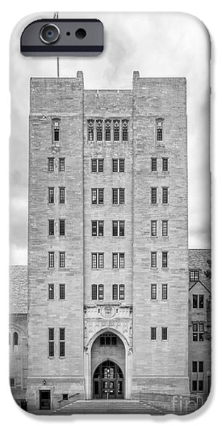 Indiana Images iPhone Cases - Indiana University Memorial Union iPhone Case by University Icons