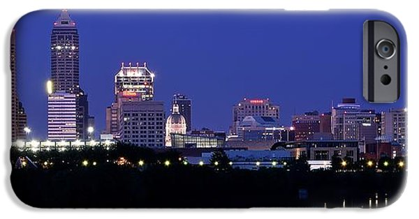 Indianapolis iPhone Cases - Indianapolis Panorama iPhone Case by Frozen in Time Fine Art Photography