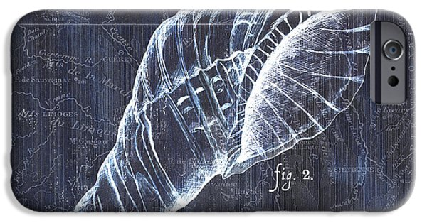 Pen And Ink iPhone Cases - Indigo Verde Mar 3 iPhone Case by Debbie DeWitt
