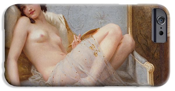 Rest Paintings iPhone Cases - Indolence iPhone Case by Guillaume Seignac