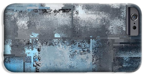 Blue Abstracts iPhone Cases - Industrial Abstract - 10t iPhone Case by Variance Collections