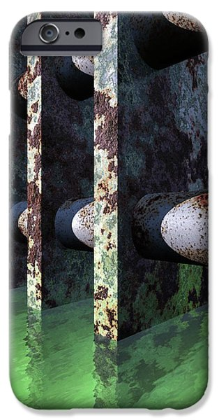 Abstract Digital iPhone Cases - Industrial Disease iPhone Case by Richard Rizzo