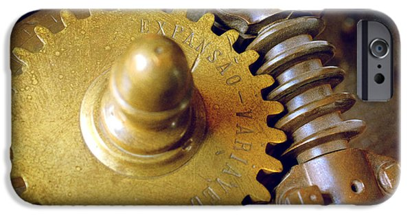 Rotate iPhone Cases - Industrial Gear iPhone Case by Carlos Caetano