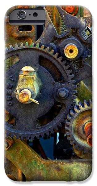 Mechanism iPhone Cases - Industrial Machinery iPhone Case by Marcia Lee Jones