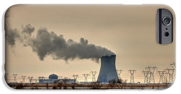 Energy Industry iPhone Cases - Industrialscape iPhone Case by Evelina Kremsdorf