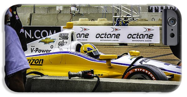Indy Car iPhone Cases - Indy Car 3 iPhone Case by Larry Kohlruss