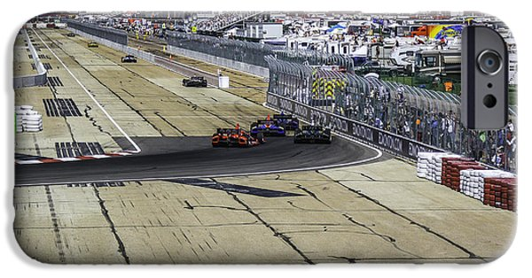 Indy Car iPhone Cases - Indy Race 14 iPhone Case by Larry Kohlruss