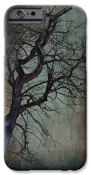 Cemetary iPhone Cases - Infared Tree Art Twisted Branches iPhone Case by Lesa Fine