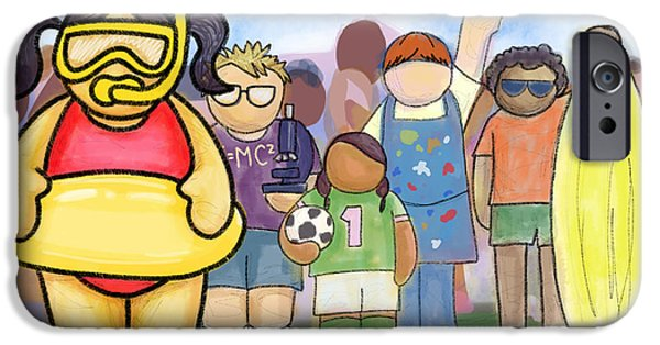Kids Sports Art iPhone Cases - Infinite Possibilities iPhone Case by Yvonne Lozano