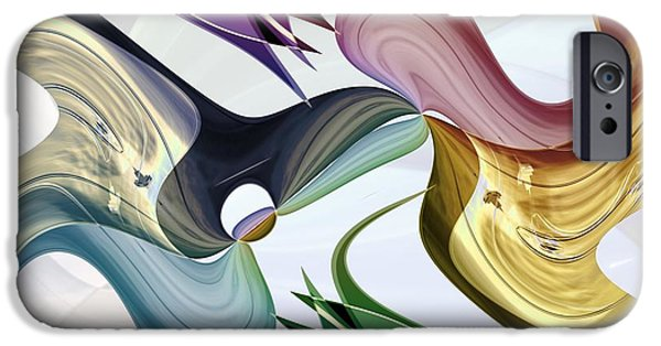 Abstract Digital iPhone Cases - Infinity Series No.5 iPhone Case by Michael C Geraghty