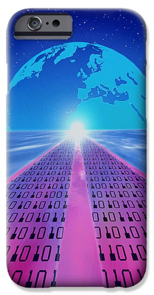 Information iPhone Cases - Information Superhighway iPhone Case by Mehau Kulyk