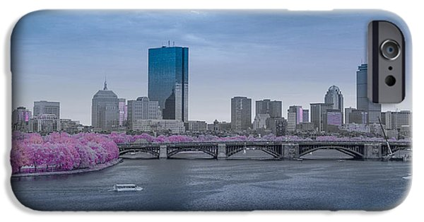 Charles River iPhone Cases - Infrared Boston iPhone Case by Bryan Xavier
