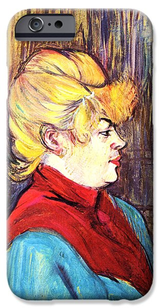 Prostitution Paintings iPhone Cases - Inhabitant of a Brothel iPhone Case by Toulouse Lautrec