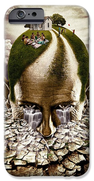 Strange iPhone Cases - Inhabited Head iPhone Case by Marian Voicu
