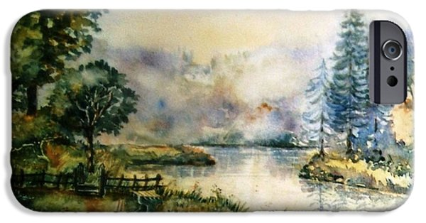 East Village iPhone Cases - Inistioge  County Kilkenny  iPhone Case by Trudi Doyle