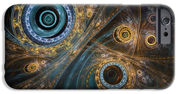 Mechanism iPhone Cases - Inner complex iPhone Case by Martin Capek