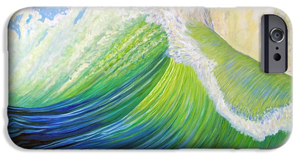 Waterscape Paintings iPhone Cases - Inner Ocean - Exaltation iPhone Case by Brian  Commerford