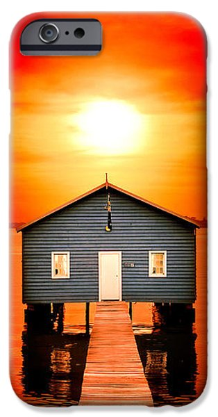 Shed iPhone Cases - Blood Sunset Panorama iPhone Case by Az Jackson