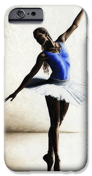 Ballerina Artwork iPhone Cases - Inner Peace iPhone Case by Richard Young