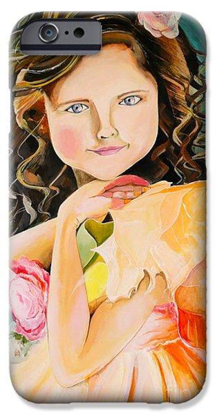 Little Girl iPhone Cases - Innocence iPhone Case by Amrita Das