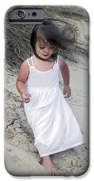 Innocence iPhone Cases - Innocence On The Dunes iPhone Case by Brian Wallace