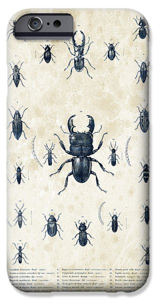 Beetle iPhone Cases - Insects - 1832 - 06 iPhone Case by Aged Pixel