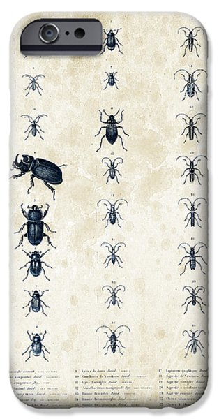 Beetle iPhone Cases - Insects - 1832 - 09 iPhone Case by Aged Pixel