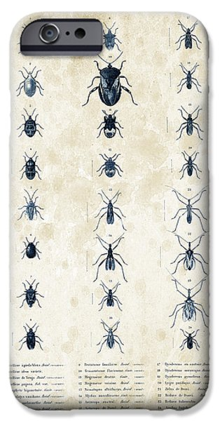 Beetle iPhone Cases - Insects - 1832 - 11 iPhone Case by Aged Pixel