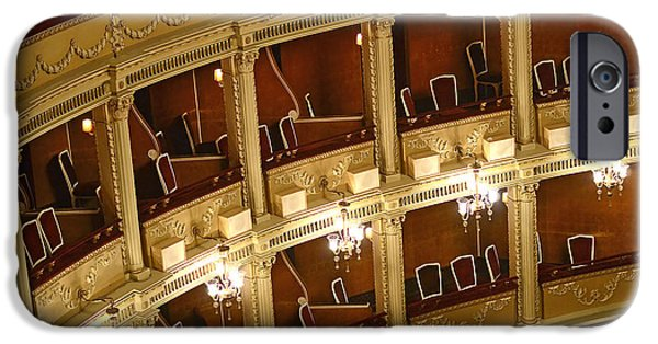 Balcony iPhone Cases - Inside An Opera Balconies For The Audience iPhone Case by Radu Bercan