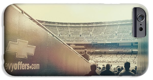 Baseball Stadiums iPhone Cases - Inside The Cathedral Of Baseball II iPhone Case by Aurelio Zucco