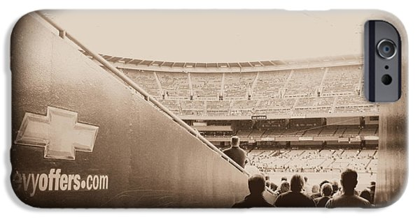 Baseball Stadiums iPhone Cases - Inside The Cathedral Of Baseball III iPhone Case by Aurelio Zucco