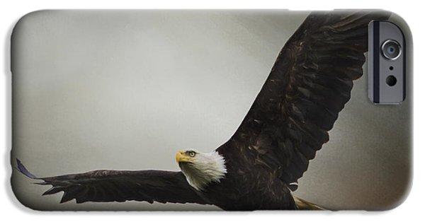 Wild Animals iPhone Cases - Inspirational Art - Determination iPhone Case by Jordan Blackstone