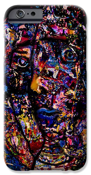 Abstract Expressionism iPhone Cases - Intellectual iPhone Case by Natalie Holland