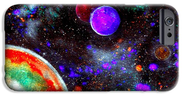Stellar Mixed Media iPhone Cases - Intense Galaxy iPhone Case by Bill Holkham