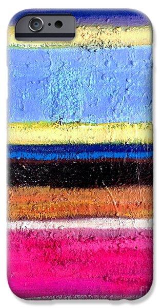 Component Paintings iPhone Cases - Intensity iPhone Case by Bart Van Der Schueren