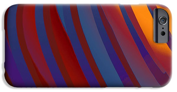 Abstract Digital Tapestries - Textiles iPhone Cases - Intergalactic Sunrise iPhone Case by Suzi Freeman