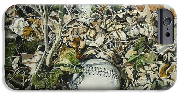 Softball Paintings iPhone Cases - Interlude iPhone Case by William  Brody