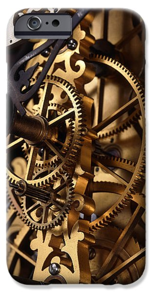 Mechanism iPhone Cases - Internal Gears Within A Clock iPhone Case by David Parker