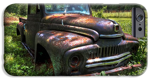 1956 Ford Truck iPhone Cases - International L120 iPhone Case by Debra and Dave Vanderlaan