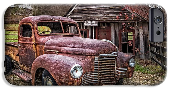 Old Cars iPhone Cases - International Trading Post iPhone Case by Debra and Dave Vanderlaan
