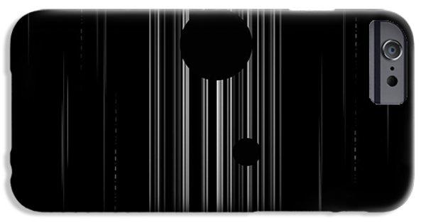 Sun Digital Art iPhone Cases - Interstellar iPhone Case by Rrco
