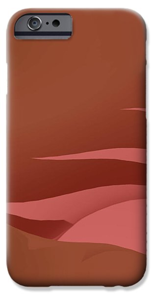 Abstract Digital Tapestries - Textiles iPhone Cases - Interstellar Sunset iPhone Case by Suzi Freeman