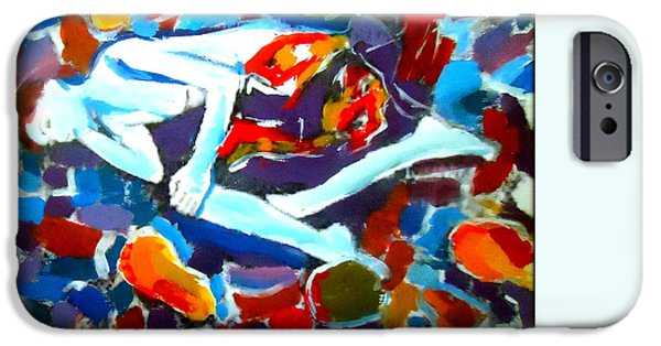 Abstract Expressionist iPhone Cases - Into colors iPhone Case by Helena Wierzbicki