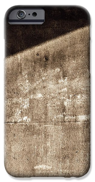 Fine Art Abstract iPhone Cases - Into Darkness iPhone Case by Wim Lanclus