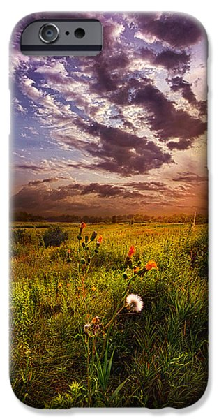 Meadow iPhone Cases - Into Paradise May the Angels Lead You iPhone Case by Phil Koch